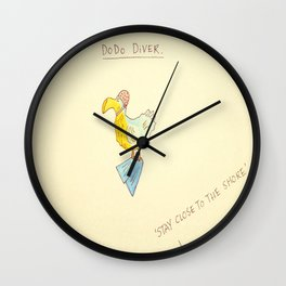 Dodo Diver 'Stay Close To The Shore' Wall Clock