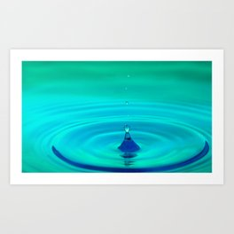 Serenity - Emotions Water Drop Photography Art Print