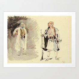 """Eugène Delacroix """"Études d'Arnautes"""" Art Print"""