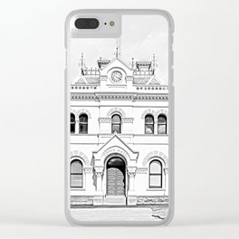 Clunes Town Hall Drawing Clear iPhone Case