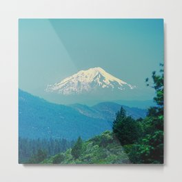 'Floating' Mountain In The Sky: Snowy Mount Hood, Oregon Metal Print