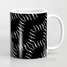 Black and White Geo Print Coffee Mug