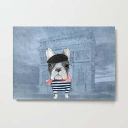 French Bulldog. (panoramic view version) Metal Print