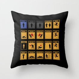 Friday I'm In Love! Throw Pillow
