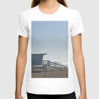 santa monica T-shirts featuring Santa Monica Beach by Danny T