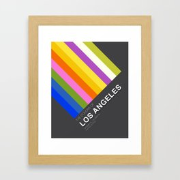 Colors of Los Angeles Framed Art Print