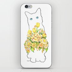 Tall White Cat iPhone Skin
