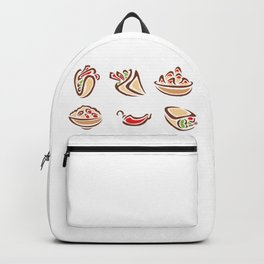Spicy Mexican Food Backpack