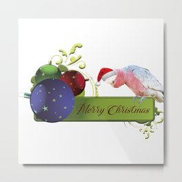 Merry Christmas from Charlie the Galah Metal Print
