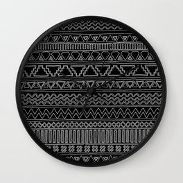 Keef Black and White 2 Wall Clock