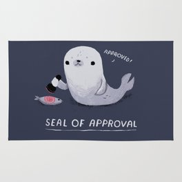 seal of approval Rug