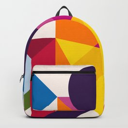 Abstract modern geometric background. Composition 8 Backpack