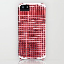 Left - lined circle iPhone Case