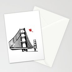 The Golden Gate Bridge Silhouette  Stationery Cards