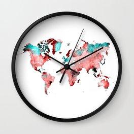 world map 72 Wall Clock