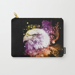 Awesome eagle with flowers Carry-All Pouch