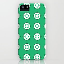 Maroccan Green Stars iPhone Case