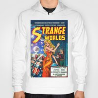 guardians of the galaxy Hoodies featuring STRANGE TALES - GALAXY GUARDIANS - REDUX by PD POP ART
