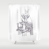 christian Shower Curtains featuring Christian service by Shelby Claire