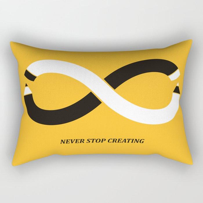 Never stop creating (the infinity pencil) Rectangular Pillow