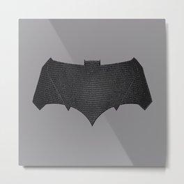 Batfleck Symbol (Realistic Symbol) Metal Print
