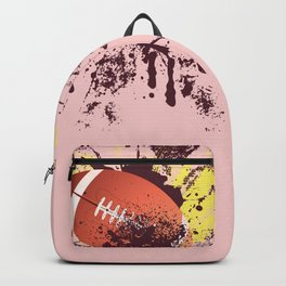 Grunge Rugby ball Backpack