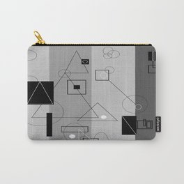 Gray Geometry 3 Carry-All Pouch