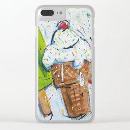 Summer Yum Clear iPhone Case