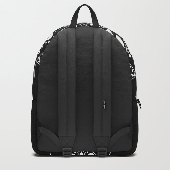 Mandala Black and White Magic Backpack