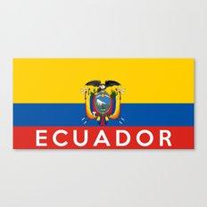 Ecuador country flag name text Canvas Print
