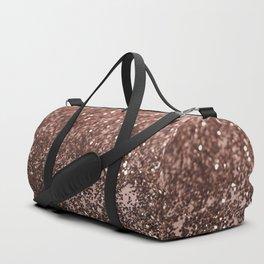 Rose Gold Glitter #1 #sparkling #decor #art #society6 Duffle Bag