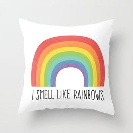 I Smell Like Rainbows Throw Pillow