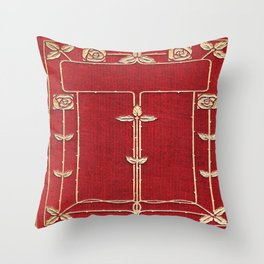 Red Rose Vines Throw Pillow