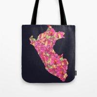 peru Tote Bags featuring Peru by Ursula Rodgers