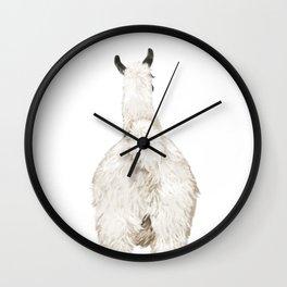 Llama Butt Wall Clock