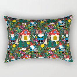 Gnome Home Rectangular Pillow