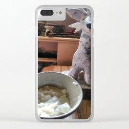 Bowl Of Glue Clear iPhone Case