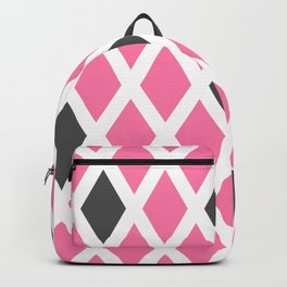 Pink and Gray Diamonds Backpack