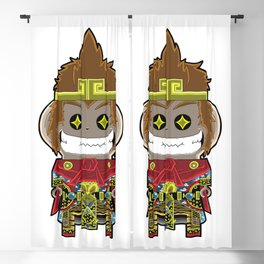 Monkey King Cute Version Blackout Curtain