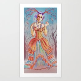 Queen of Paper Airplanes Art Print
