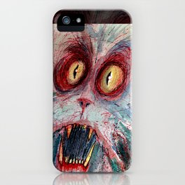 scared zombie cat iPhone Case