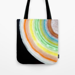 Colorful Abstract Slice of Giant Jawbreaker Candy Tote Bag