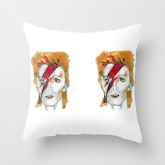 Bowie birthday card Throw Pillow
