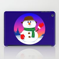 snowman iPad Cases featuring SnowMan by tuditees
