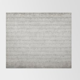 """MUSIC by collection """"Music"""" Throw Blanket"""