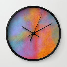 Hot Summer Day: Abstract Blocks of Color Engage and Merge to Evoke Mixed, but Strong Feelings Wall Clock