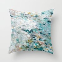 secret life Throw Pillows featuring Secret Life of Winter by Jessica Torrant