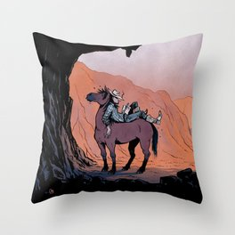 Reading Cowboy Throw Pillow