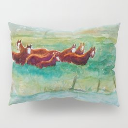 Wild Horse Band by Creek watercolor by CheyAnne Sexton Pillow Sham
