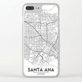 Minimal City Maps - Map Of Santa Ana, California, United States Clear iPhone Case